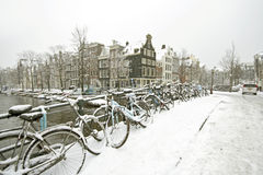 Amsterdam in winter Netherlands Stock Photo