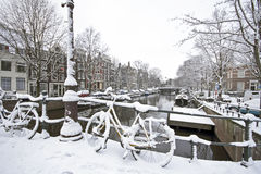 Amsterdam in winter in the Netherlands Stock Photos