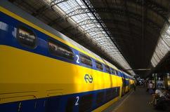 Amsterdam-Zentralbahnstation Stockbilder