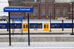 Amsterdam-Zentrale-Station Stockbilder