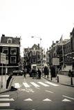 Amsterdam-Zug in der Stadt Stockbild