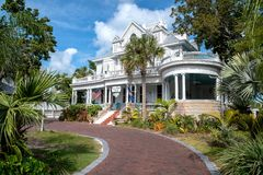 Amsterdams Curry-Villengasthaus in Key West stockfoto