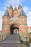 Amsterdamse Poort,哈莱姆,荷兰 免版税库存图片