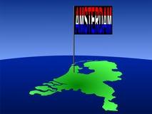 Amsterdão no mapa holandês Imagens de Stock Royalty Free