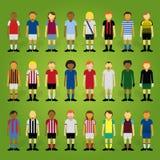 Amt des Premierministerss-Karikatur-Fußballspieler Collection Stockfotos
