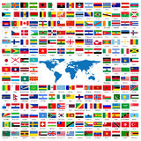 Amtliche Markierungsfahnen der Welt Stockbild