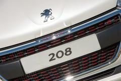 Amtliches Kennzeichen Peugeots 208 Lizenzfreies Stockfoto