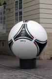Amtliches matchball von EURO2012 POLEN - UKRAINE Stockfotografie
