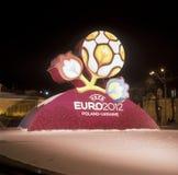 Amtliches Zeichen für UEFA-EURO 2012 Stockfotografie