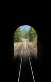 Amtrak through the Cascade Tunnel in Montana Royalty Free Stock Image