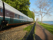 Amtrak Cascades. Amtrak passenger train at White Rock, British Columbia Stock Photos