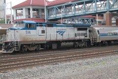 Amtrak Locomotive 513. Amtrak 514 in Altoona PA at Amtrak Station Stock Image