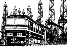 Amtrak Locomotive With Oil Stock Image