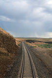 Amtrak through Montana. Amtrak ride through the Northwest states and storm rolling in stock photography