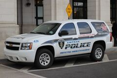 Amtrak Police K9 Unit Tahoe Royalty Free Stock Photo