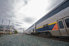 Amtrak Train in Berkeley. Amtrak train railroad in Berkeley royalty free stock photos