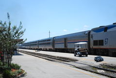 Amtrak Train. Sleeper cars on an Amtrak train Stock Photos