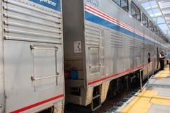 Amtrak train at station2 Stock Photo