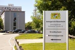 Amtsgericht Rosenheim Stock Photos