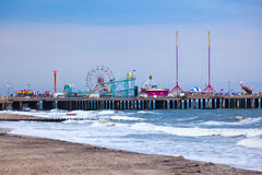 Amuesment-Park bei Stahl-Pier Atlantic City, NJ Stockbild