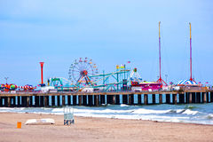 Amuesment Park at Steel Pier Stock Photo