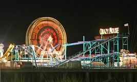 Amuesment Park at Steel Pier Stock Images