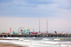 Amuesment Park at Steel Pier Royalty Free Stock Images