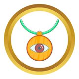 Amulet against the evil eye vector icon Stock Photo