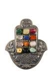 Amulet da mão de Hamsa, usado para defender fora o olho mau mim Imagens de Stock