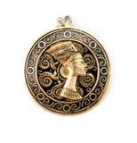 Amulet de Nefertiti foto de stock