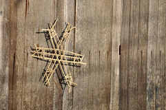 Amulet Door Wood Bamboo Weave Stock Images