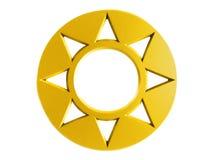 Amulet dourado do sol Ilustração do Vetor