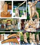 amulet met de hand gemaakt door houten te snijden Royalty-vrije Stock Foto's