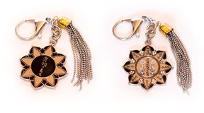 Ten Hum Protection Wheel Amulet Key Chain Royalty Free Stock Photography