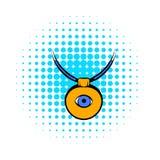 Amulet tegen het kwade oogpictogram, strippaginastijl stock illustratie