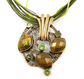 Amulet verde fotografia de stock royalty free