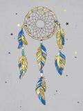 Amuleto de Dreamcatcher del vector Ejemplo étnico, tribal Fotografía de archivo