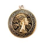 Amuleto di Nefertiti Fotografia Stock