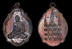Amuleto Phrakruang del Laos della moneta di Samek di fon di Phra Kru Fotografie Stock