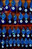 Amuletos dos olhos azuis, Turquia Foto de Stock Royalty Free