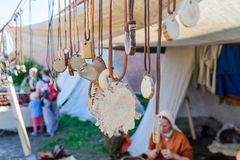 Amuletos tradicionais escandinavos e encantos Fotografia de Stock