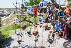 Amuletos turcos en el árbol Fotografía de archivo