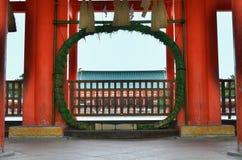 Amuletpoort van Heian-Heiligdom Kyoto Japan Stock Foto's