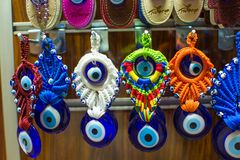 Amulets from evil eye on the market in Istanbul Royalty Free Stock Images