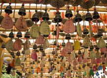 Amulets in Taoist temples. Stock Photos