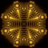 Amulette découpée d'or Image libre de droits