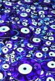 amuletter eye formad traditionell turk Arkivbilder