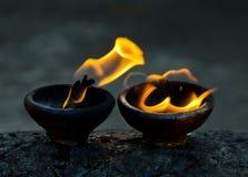 amuletu ogień Fotografia Royalty Free