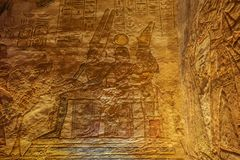Amun, Ramesses et Nefertari se reposant ensemble photo stock