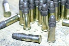Amunicje cal 22 Zdjęcia Stock